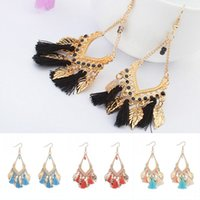 Vintage Hollow Tassel Dangle Earring Indian Ethnic Jewelry Folhas Tendências Jóias Acessórios Gorgeous Tassel Drop Dangle Earrings B638S