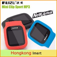 Wholesale Mini Clip Mp3 4gb - New RUIZU X09 Sport MP3 Player 4gb Clip Mini With Screen Can Play 30 Hours, With FM,E-Book,Clock,Data