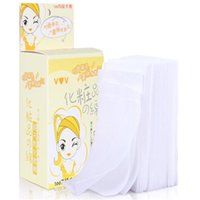 Wholesale Makeup Remover Cotton Pad - Wholesale-Best Deal!1 box Makeup Cotton Pads Makeup Removing Pads Nail Art Polish Acrylic Gel Tips Remover Cotton Pads Skin Care