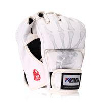 Wholesale Taekwondo Gloves Free Shipping - MMA Boxing Gloves Top Quality PU Leather Mitts Sanda Karate Sandbag Taekwondo Protector Competition Training Glove Free shipping