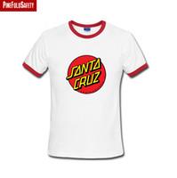 Wholesale Gold Top Oem - Wholesale-New fashion OEM Skate skate brand Santa Cruz t-shirts Top quality men short sleeve T-shirts printed t-shirt free shipping