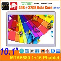 "Wholesale Cheapest Quad Core Phones - 10.1 10"" quad core MTK6580 3G phablet phone tablet pc Unlocked Android 1+16GB Daul SIM cam Unlocked 32GB octa core MTK8752 cheapest 30pcs"