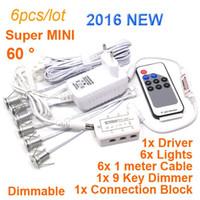 Wholesale Downlight Set - 6pcs set Remote control AC110-265V 1w Mini dimmable Led Downlight Led Recessed Light spot light free shipping product