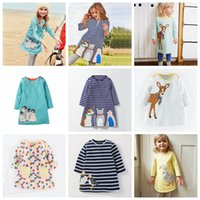 Wholesale kids leopard costume - Girls Dress Long Sleeve 2017 Brand Princess Dress Girls Clothes Animal Pattern Children Costumes Kids Dresses