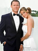Wholesale Shawl Collar Dress Suit Men - Fashion men wedding Suits New Year Hote sale tuxedos men's dress one button Shawl collar Color butyl process groom wedding suit