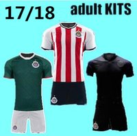 Wholesale Good Football Jerseys - NEW ARRIVE Chivas de Guadalajara kits set 2017 18 Chivas MEN'S Home away soccer jersey 17 18 Pulido ADULT Football Shirts good quality