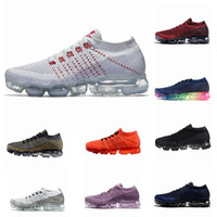 Wholesale new fashion fabrics - 2018 New Vapormax Mens Running Shoes For Men Sneakers Women Fashion Athletic Sport Shoe Hot Corss Hiking Jogging Walking Outdoor Shoes