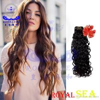 "Wholesale Russian Virgin Hair 5a - Royal Sea Hair Bundles Natural Hair Extensions Whole Sale Lots Free Shipping 100 Pieces Malaysian Wavy Hair Mixed Lenght 12""-26"" Cheap 5A"