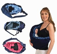 ingrosso borsa per culla-2016 molto caldo Bambino Toddler Neonato Cradle Pouch Ring Sling Carrier Stretch Wrap anteriore Borsa