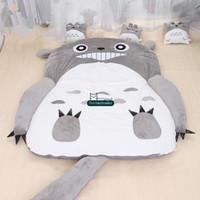bolsa de anime de japón al por mayor-Dorimytrader caliente de Japón del Anime de Totoro Saco de dormir de la cubierta grande de la felpa suave alfombra colchón de la cama del sofá tatami regalo sin DY61067 algodón
