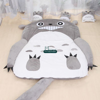 Wholesale anime bedding for sale - Group buy Dorimytrader Hot Japan Anime Totoro Sleeping Bag Cover Big Plush Soft Carpet Mattress Bed Sofa Tatami Gift without cotton DY61067