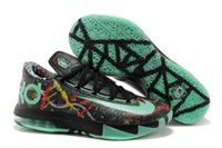 Wholesale Kevin Durant Basketball Shoes Kd Vi - KD 6 VI Mens Basketball Shoes Kevin Durant 6 all Star LED KD 6 Glow Dark Sneakers High Quality Sports Running Shoes