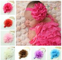 Wholesale Corn Sticks - European and American children headdress baby corn flower elastic hairband baby headband hollow wave edge elegant baby hair band