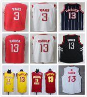Wholesale Arizona Basketball Jersey - 2017 2018 New Season #13 James Harden Jerseys Red White Black Arizona State Sun Devils College #3 Chris Paul Basketball Jersey Stitched
