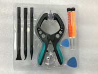 Wholesale Mobile Suction Kits - 10in1 Mobile Phone Repair Tools Kit For LCD Screen Opening Pliers Tool Screwdrivers Pry Suction Panel for Disassembly iPhone 5 5s 6 6s