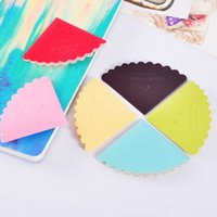Wholesale Corner Office - 24pcs lot Cute Cartoon Colorful PU Leather Bookmarks for Book Corner Gifts School Office Supplies Free Shipping Papelaria