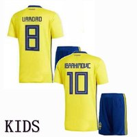 84e4eb348 Sweden Kids soccer jersey 2018 football shirt 18 19 IBRAHIMOVIC KALLSTROM  LARSSON TOIVONEN children boys Jerseys