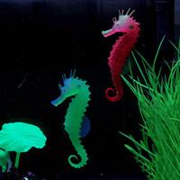 ingrosso serbatoio di meduse artificiali-Acquario artificiale Sea Horse Hippocampus Ornament Fish Tank Jellyfish Pet Decor # R410