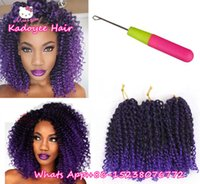 Wholesale Synthetic Curly Hair Wefts - Crochet braids Caribbean twist braiding hair bundles kinky curly curly bohemian styles mambo twist short weave wefts for black women UK USA