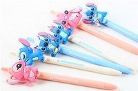 Wholesale Cute Lilo Stitch - Lilo & Stitch Stitch Angela cute convenient ball-point pen to write with pen cartoon children stationery 108pcs lot free shipping