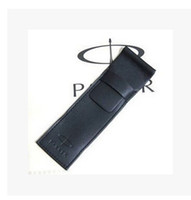 Wholesale Gift Bags For Wholesale Prices - Wholesale-2 pcs Luxury black leather bag office special pen case for one Wholesale Price