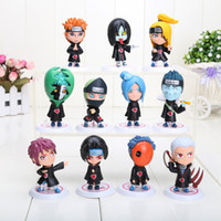 Wholesale Naruto Figures Set - 11pcs set Japanese Anime Naruto Akatsuki PVC Figure Collectable Model Toys Doll Gifts for Birthday approx 6.5cm