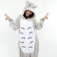 Wholesale womens costume xxl - Wholesale- Costumes Full Flannel Totoro Pijamas Pajamas Pyjamas For Womens Adult Onesies SleepWear Home For Cheep Clothing Plus Size AS XXL