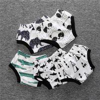 Wholesale Underwear Kids Print Boys - 2016 quality INS baby boy girl boy shorts Underwear cotton animal crocodile shark bear Kids Toddler print briefs undershorts