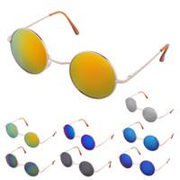 Wholesale Vintage Hippie Sunglasses - HOT New Mens Womens Sunglasses Hippie Retro Vintage Round Metal Fashion Eyewear