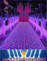 Wholesale Led Wedding Cake Toppers - NEW 60CM *60 cm Shiny Crystal LED Wedding Mirror Carpet Aisle Runner T Station Stage Decoration Props free shipping MYY