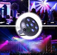 Wholesale Plastic Color Dye - 2017 Led stage PAR liGht 6 leds RGB Mini voice control plastic lights dyed RGB EU or US plug Home KTV Bar fairy decoratio MYY