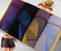 Wholesale Pattern Boxer Briefs - Free Shipping Fashion U Convex Pouch Men's Boxer Shorts Sexy Spiral Pattern Panties Boxer Briefs Size L M XL 2XL 3XL