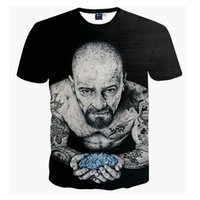 Wholesale Men S Shirt Tattoo - Harajuku Women Men Vintage Black t shirts tees Breaking Bad Heisenberg 3d t shirt Funny Tattoo Men tshirts casual tee shirts