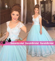 Wholesale Cute Prom Dresses For Juniors - Cute Cinderella Ball Gowns Prom Quinceanera Dresses for 2016 Sweet 15 16 Juniors Girls Colorful Tulle Festival Masquerade Princess Wear Sale