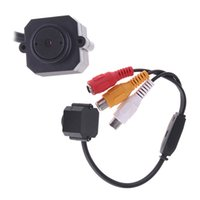 Wholesale High Sensitive Super Mini Micro Color Wired CMOS Camera mm Lens quot Color CMOS CCTV Camera Monitor PAL