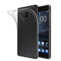 ingrosso casi per lumia-Cover posteriore in silicone trasparente TPU trasparente da 0,8 mm per Nokia 3 5 6 8 Lumia 830 650 950 XL 640 Custodia protettiva