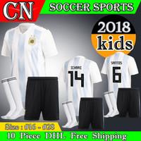 30a7b2c1447 Soccer Boys Short Argentina kids 2018 world cup Soccer Jersey 2018  Argentina kit Jersey Home Blue