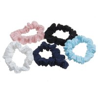 Wholesale Ladies Hair Accessories China - Fabric simple ponytail solid color scrunchy basic hair rubber bands high quality handmade lady hair accessories
