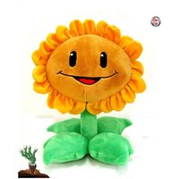 Wholesale-Star Product 12inch 30cm Lovely Plant Vs Zombies PopCap Girasole giocattoli peluche, 1 pz / pacco