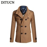 overcoat shop - Fall NEW Winter Men Trench Coat Long Fashion Stylish Double breasted Overcoat Thick Warm Men Trench FREE SHOPPING DITUCN