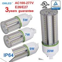 Wholesale 5w Led Lighting Fixtures - G24D G24Q G24 LED Waterproof Light Bulb Street Garden Yard UL cUL TUV 5W 7W 9W 12W 15W 20W Closed Lighting fixtures