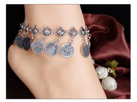 Wholesale Christmas Fund - European Foreign Trade New Pattern Fashion Major Suit Fund Restore Ancient Ways Style Metal Coin Tassels Anklet Best Sellers Romantic