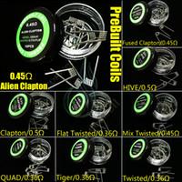 квад-мода оптовых-Предварительно сконструированные катушки 9 типов нагревательных проводов с сопротивлением нагреванию Инопланетный сплавленный клептон Flat Mix Витой улей Quad Tiger моды Vapor RDA предварительно изготовленная головка катушки