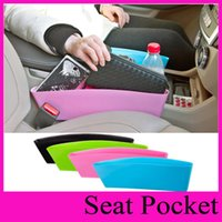 Wholesale Pocket Square Storage - Auto Car Seat Gap Pocket Catcher Organizer Leak-Proof Storage Box New organizador Stuff Sacks Slit Pocket Holder