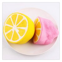 Wholesale Lemon Charms - 2017 New Kawaii Squishies Cute Slow Rising Squishies Lemon Squishy For Mobile Keychain Soft Squishies Jumbo Buns Phone Charms Free Shipping