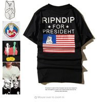 Wholesale Top Pocket Pussies - RIPNDIP Pussy T Shirt Men Cat In Pocket Funny Cartoon Tshirt Homme LORD NERMAL Rip N Dip Harajuku T-shirt 2016 Couple Tops Yeezus