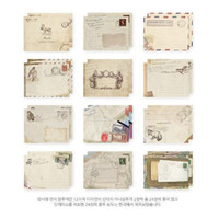 Wholesale Cute Stationery Envelopes - Wholesale- 12 PCS set Mini Vintage Paper Envelopes Cute Cartoon Kawaii Korean Stationery Envelope Gift
