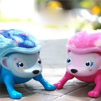 Wholesale Nose Plastic Toy - Interactive Hedgehog with Multi-modes Lights Sounds Sensors Light-up Eyes Wiggy Nose Walk Roll Headstand Curl up Giggle Toys 3003205
