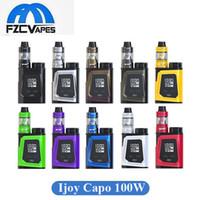 Wholesale Metal Cell - Authentic iJoy Capo 100 Kit Capo 100w Vape Box Mod with Captain Mini Tank Included 21700 Cell 3750mah Starter Kit 100% Original