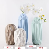 Wholesale Living Vases - Flower vase ceramic crafts 4pcs lot of creative modern minimalist style living room decoration ornaments wholesale